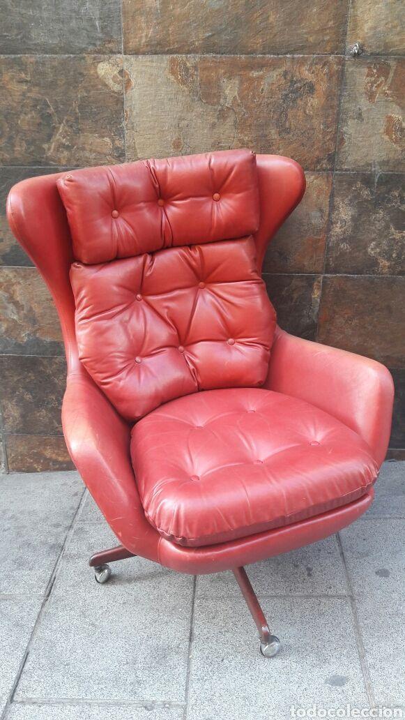 Sill n giratorio piel asiento chester cuero silla sillon - Sofa piel vintage ...