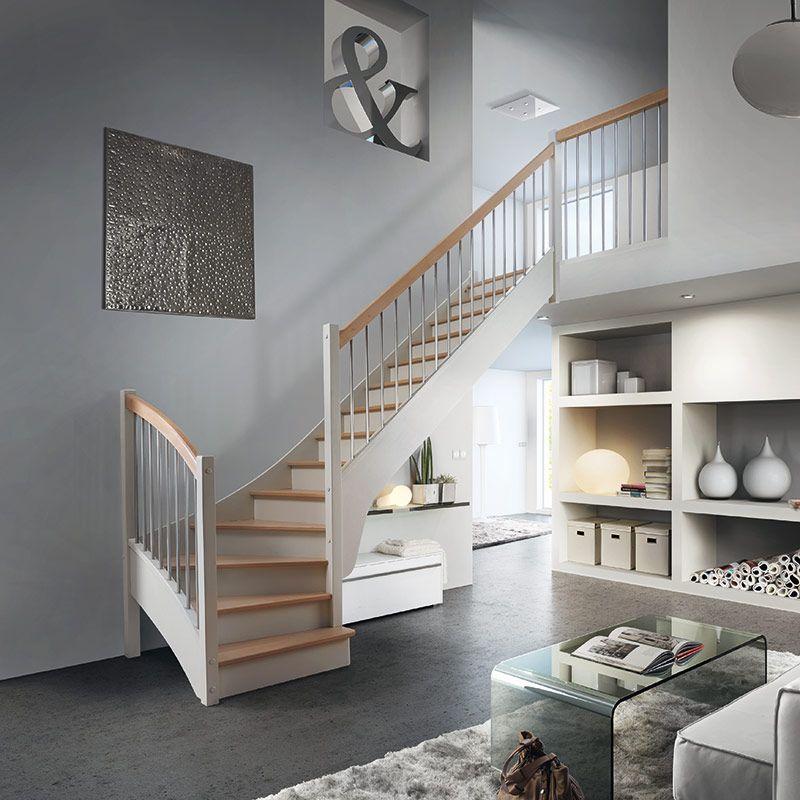 escalier en h tre am nagement int rieur pinterest. Black Bedroom Furniture Sets. Home Design Ideas