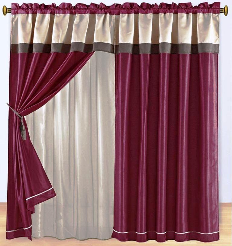 Burgundy Curtains Living Room