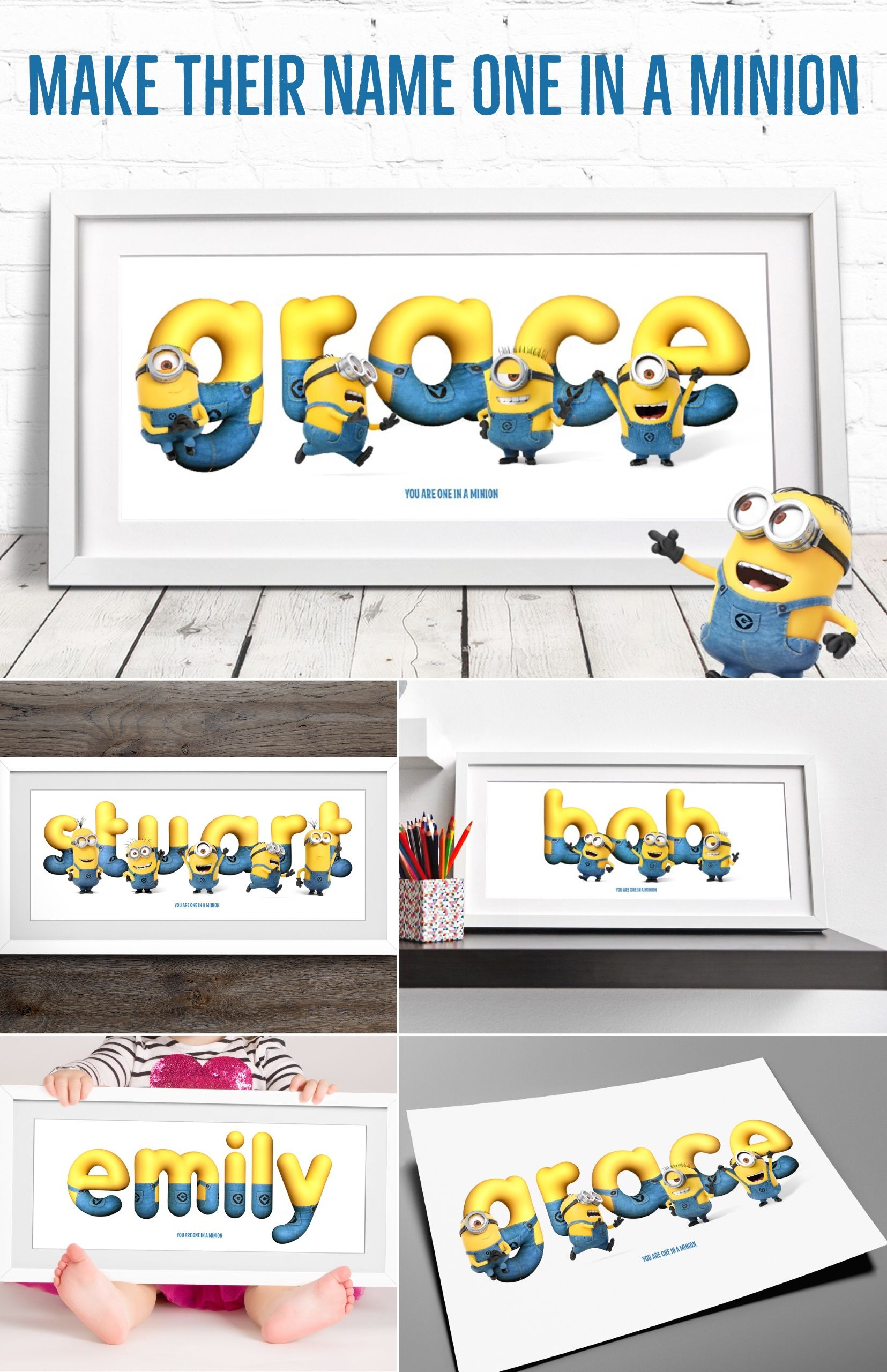 Make Your Name One In A Minion With Our Minions Framed