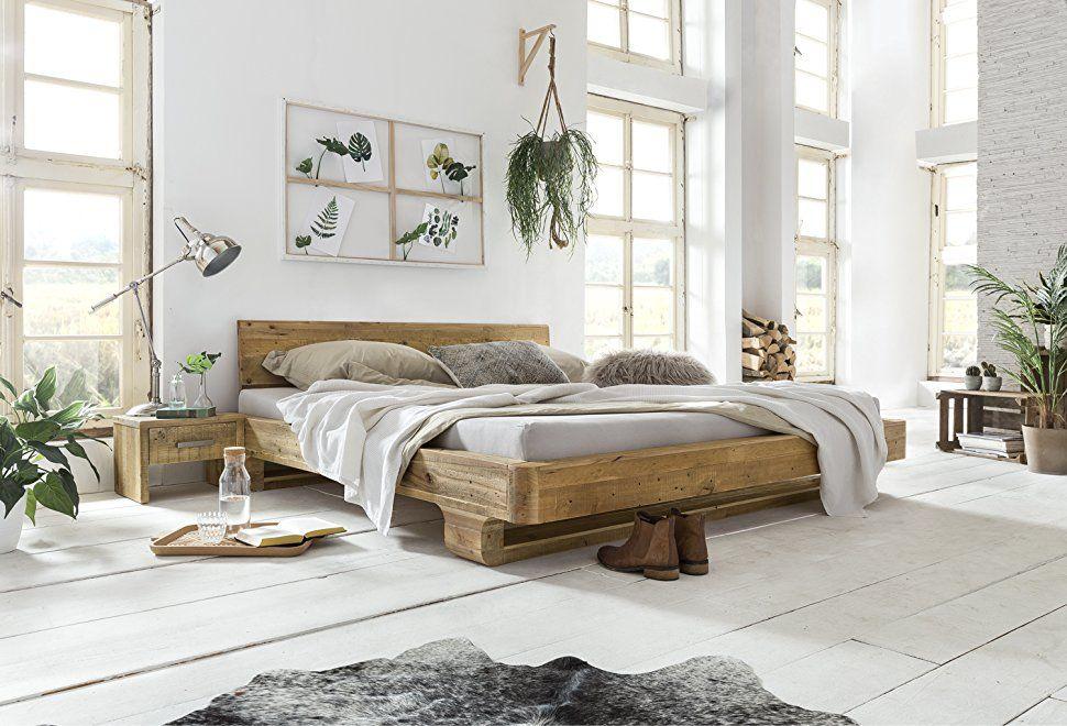 Schlafzimmer Massivholz ~ Woodkings® bett 180x200 mayfield doppelbett recycelte pinie