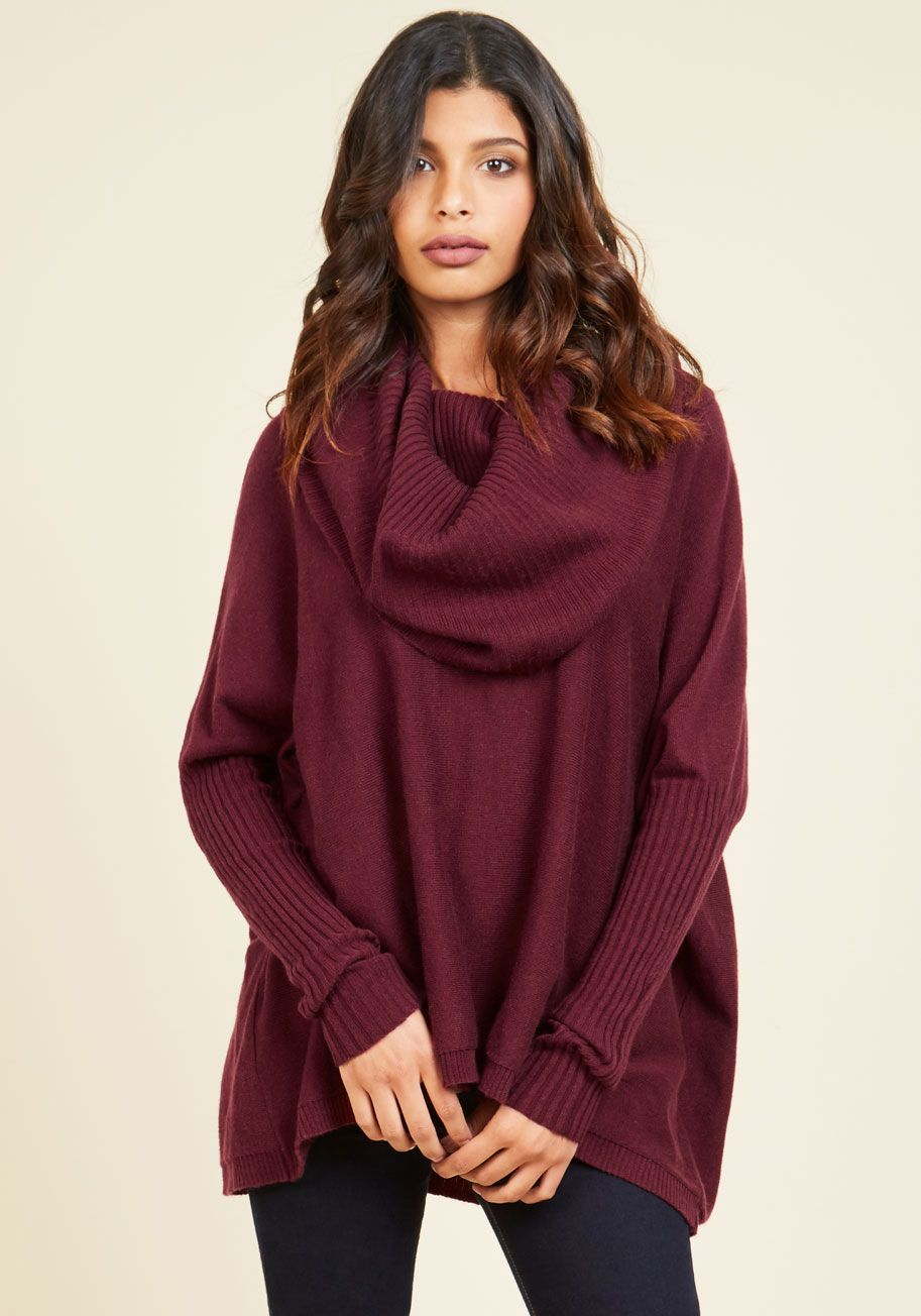 A Cozy Touch Sweater in Burgundy | Burgundy sweater