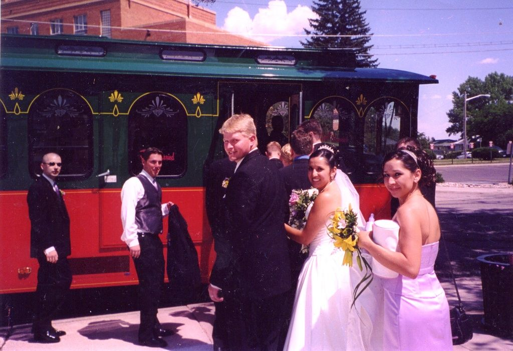 Imagine a trolley transporting your guests from the wedding to the reception.  http://www.cheyenne.org/