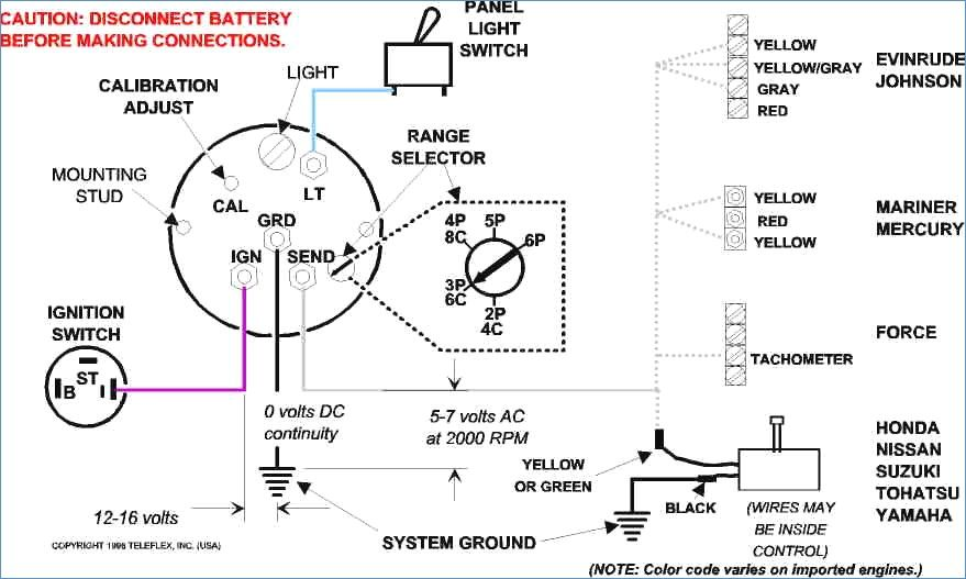 where to hook tach to on ignition key switch on an omc turn signal diagram tachometer wiring diagram #2