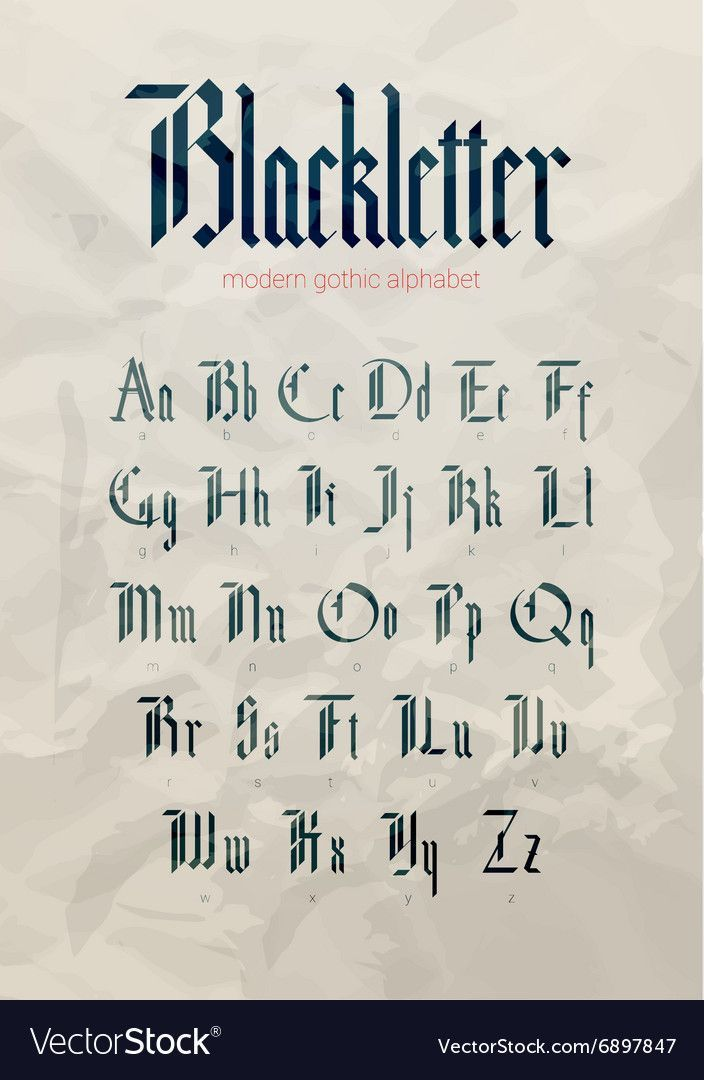 Blackletter calligraphy inspiration