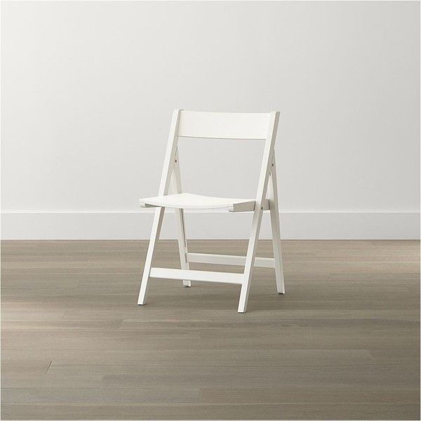 Crate & Barrel Spare White Folding Wood Dining Chair ($50 ...