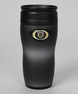 This Boston Bruins Soft-Touch Travel 16-Oz. Tumbler by Hunter is perfect! #zulilyfinds