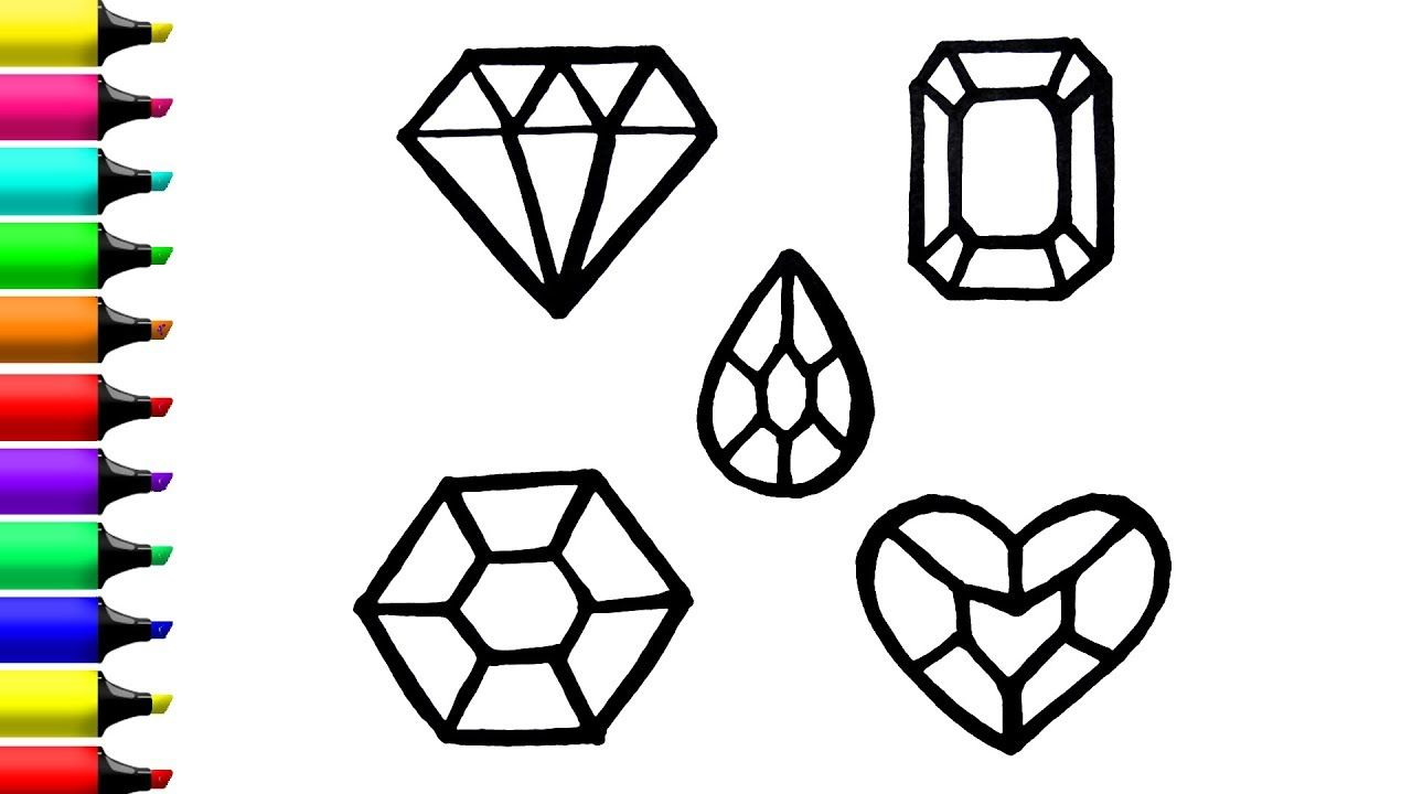 Crystals coloring page in its kids zone blog pinterest