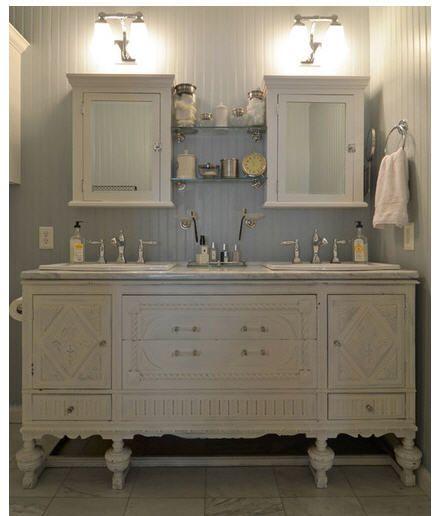 Old Dresser Turned Into Bathroom CabinetLOVE Bathroom Ideas - Dresser turned bathroom vanity for bathroom decor ideas