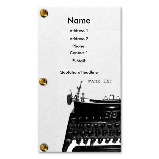 Screenwriter Scriptwriter Film Business Card Zazzle Com Screenwriting Scriptwriting Business Cards