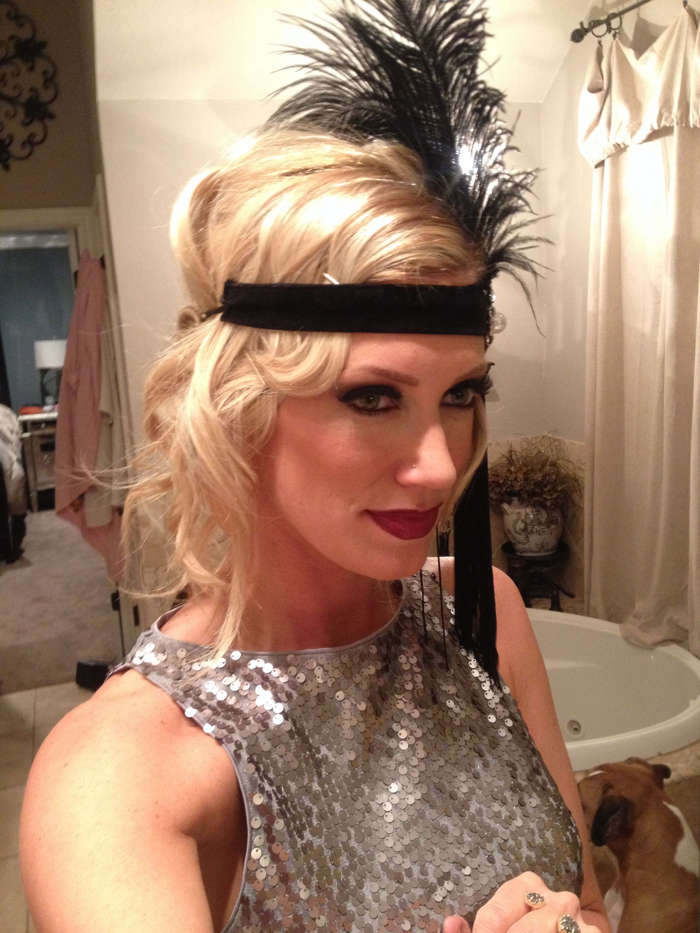 Great Gatsby Hair Style Flapper Hairstyle Gatsby Hair 20shair Party Flapper Flapperhair Gatsby Hair Hair Styles Gatsby Hairstyles For Long Hair
