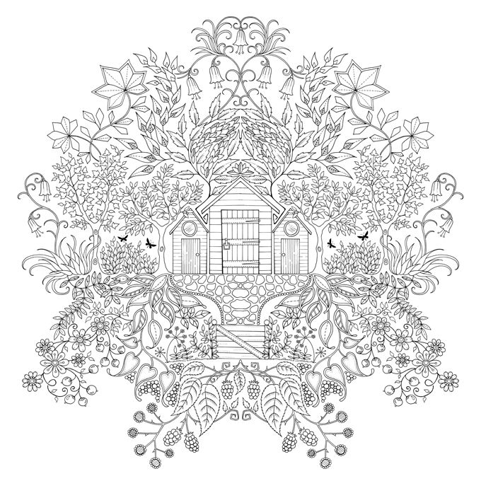 Secret Garden | Johanna Basford | Coloring pages | Pinterest | Casa ...