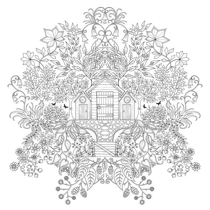 Secret Garden Johanna Basford Kleurplaten Mandala Kleurplaten Kleurboek
