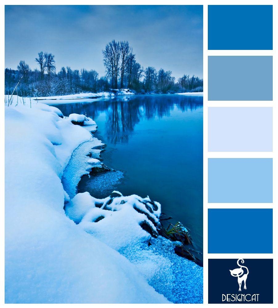 Winter Blue Color Palette