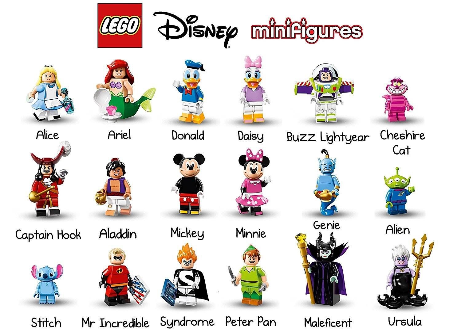 Lego Minifigures Disney Series 1 New Choose Your Minifigure Ariel