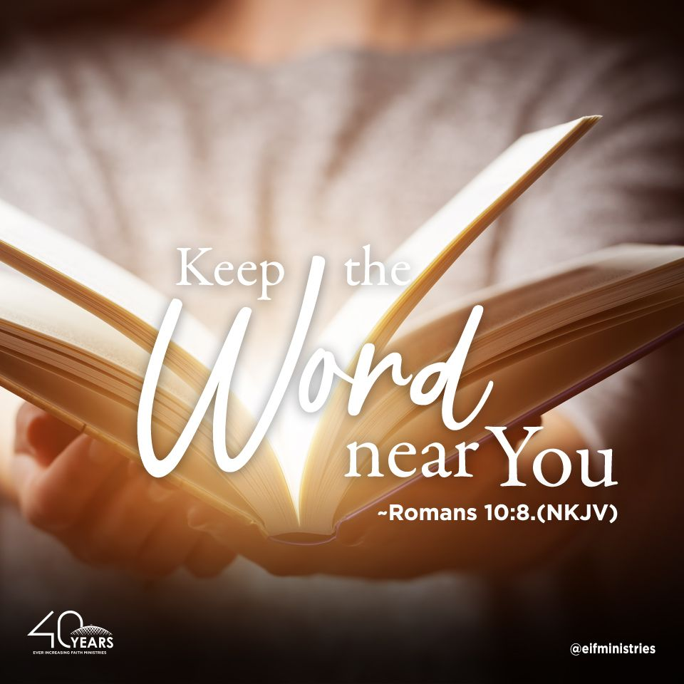 Romans 10:8 (NKJV) 8  But what does it say?