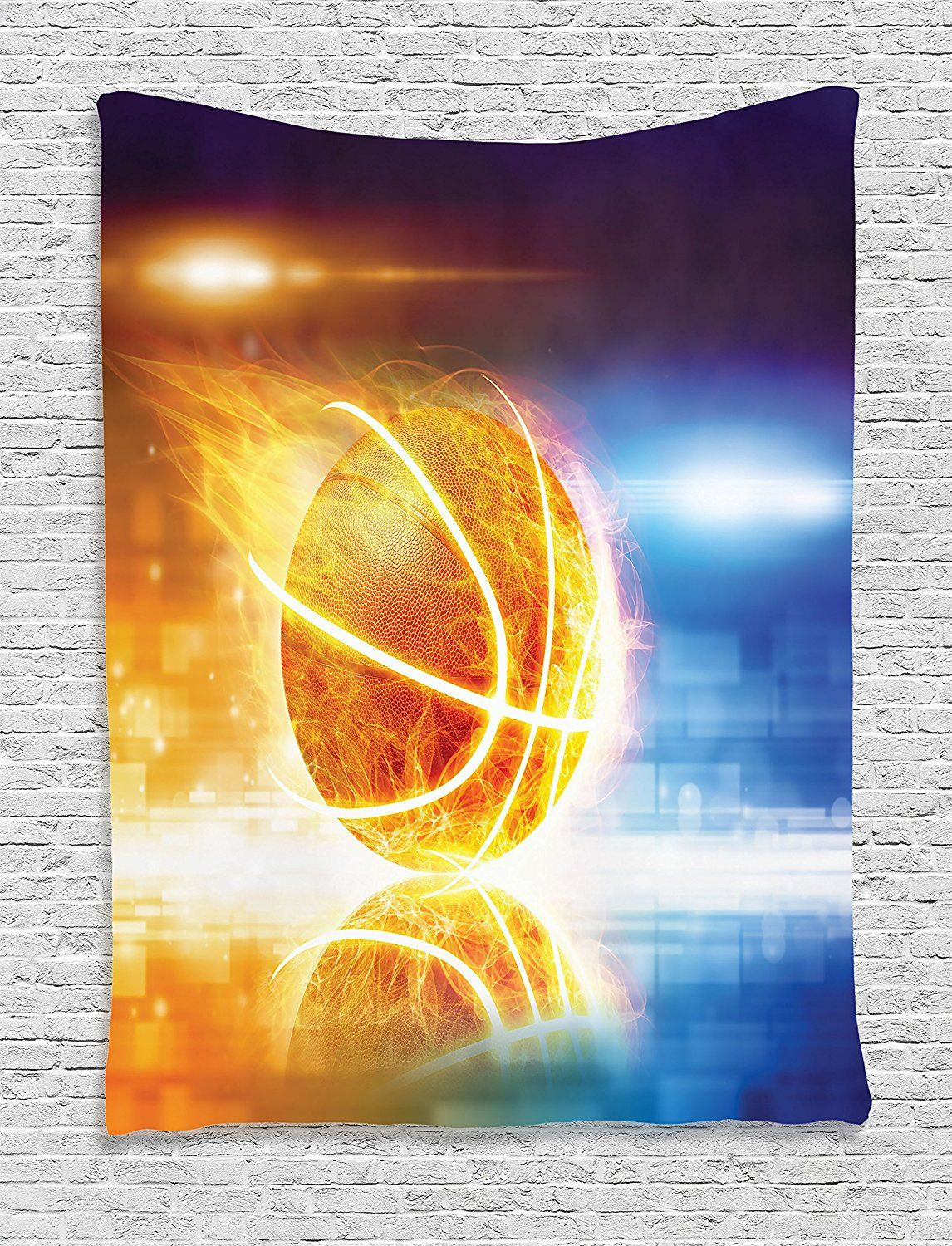 Sports Decor Tapestry Wall Hanging by Ambesonne, Abstract Sports ...