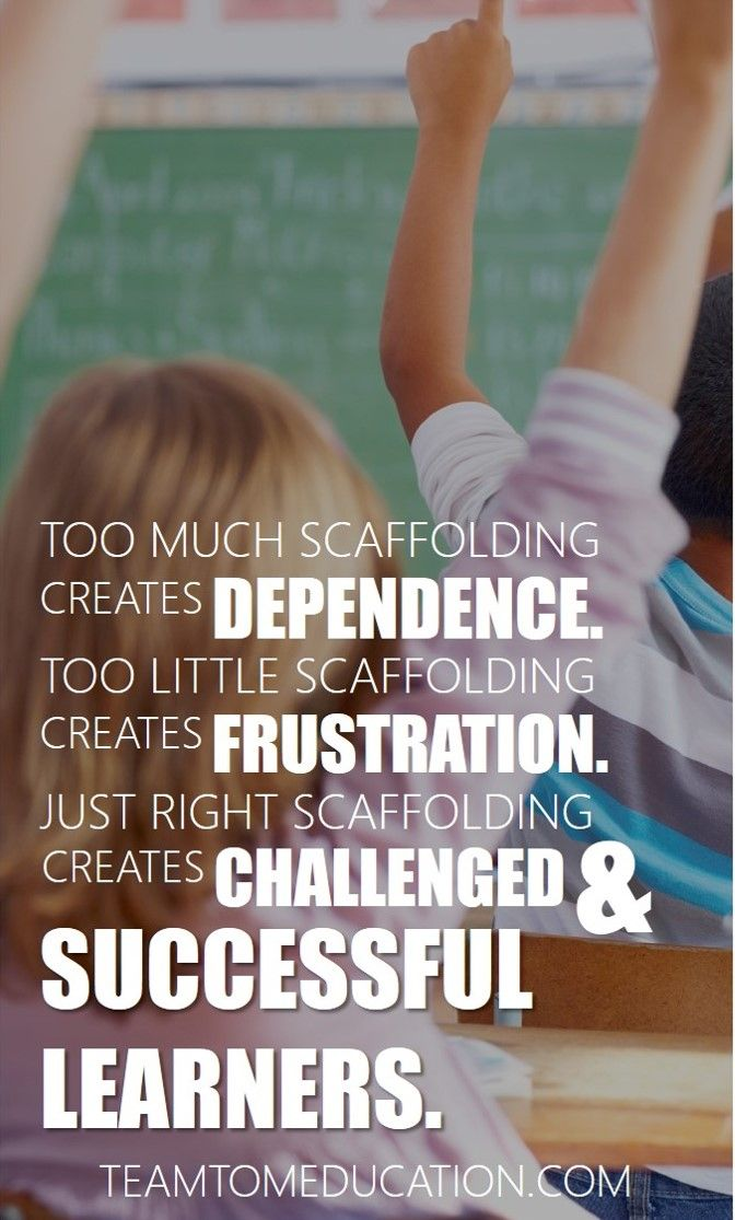 Scaffolding Brain And Learning Pinterest Instructional