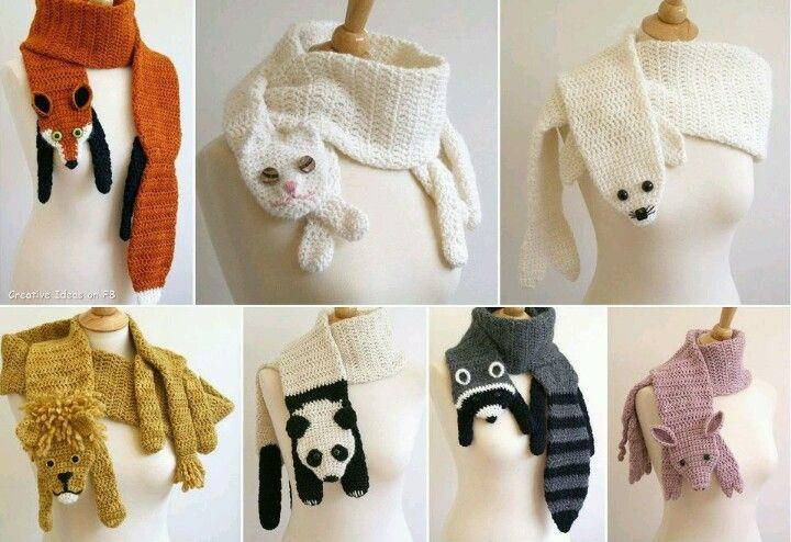 Bufandas de animales. | manualidades | Pinterest | Crochet and ...