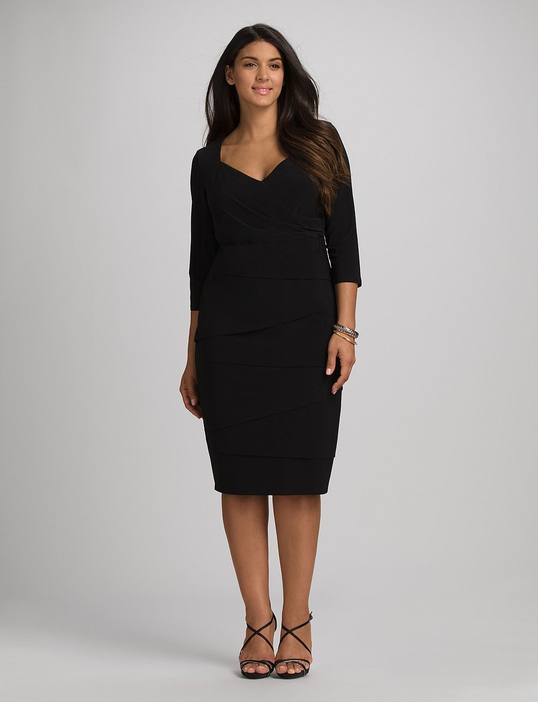 Plus Size Tummy Control Sheath Dress  Little black dress, Black