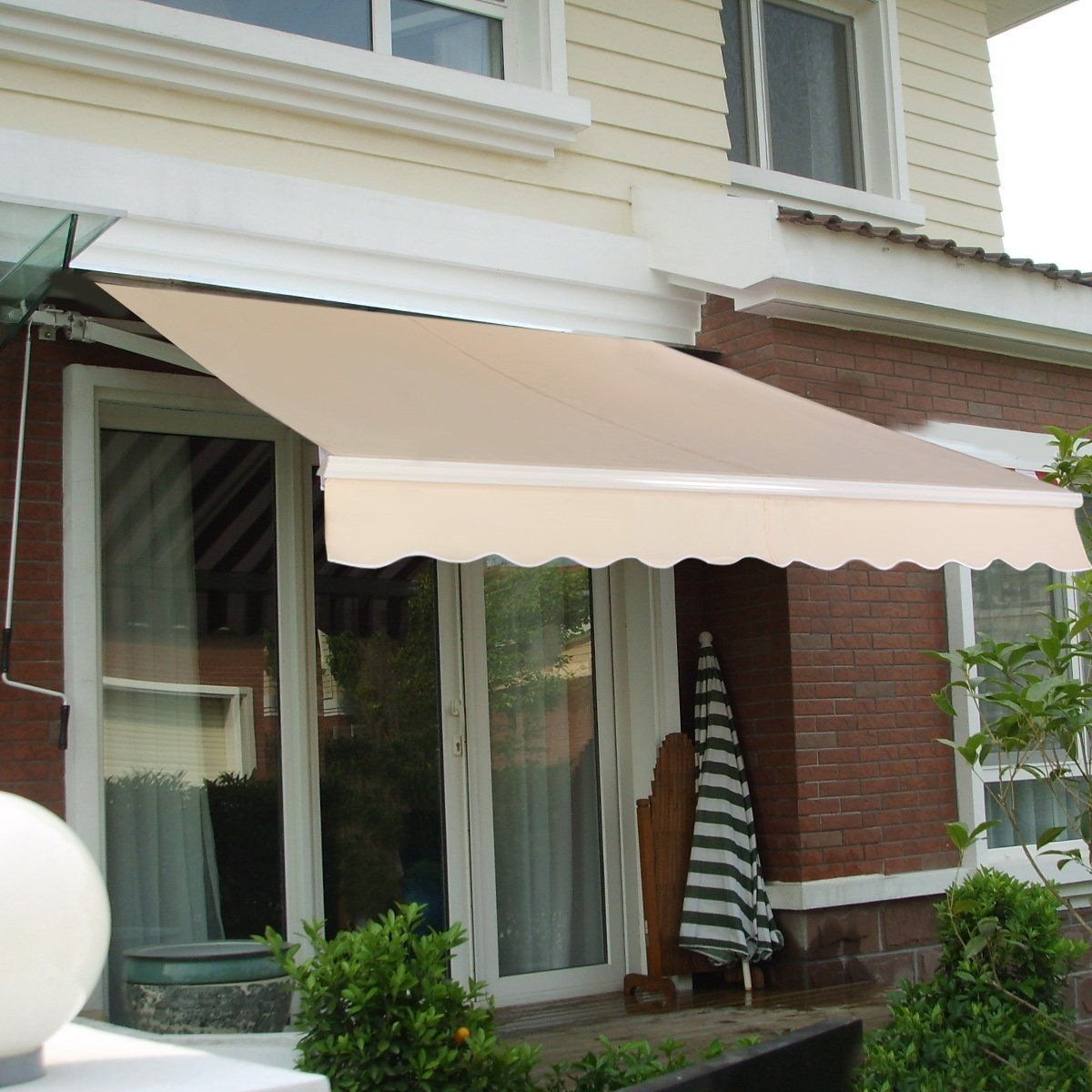 Amazon GoplusR Manual Patio 82x65 Retractable Deck Awning