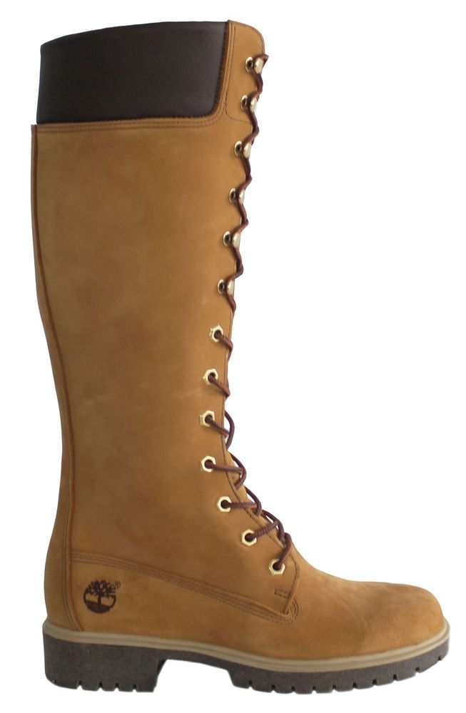 Timberland Prem 14 Inch Select Co Womens Girls Leather Lace Up