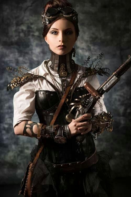 SteamPunk villainess? I like the outfit/costume with the ...