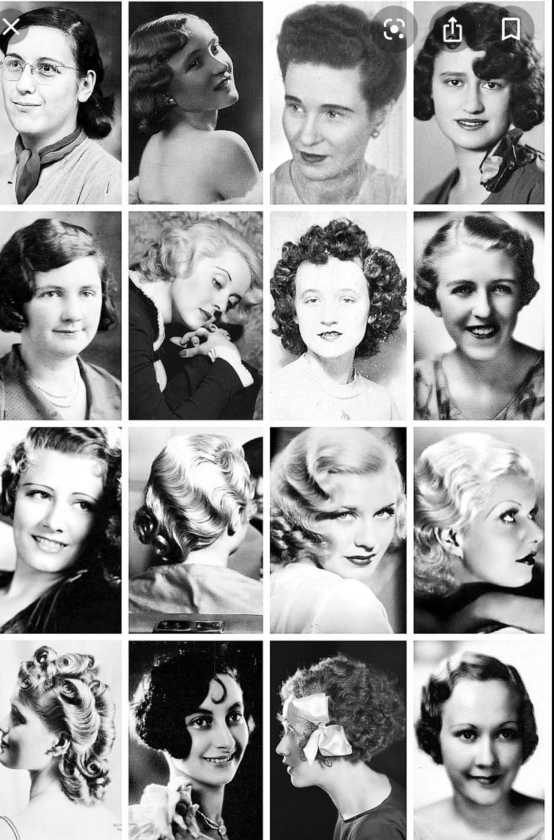 1930 S Perms 1930s Hair Vintage Hairstyles 30s Hairstyles
