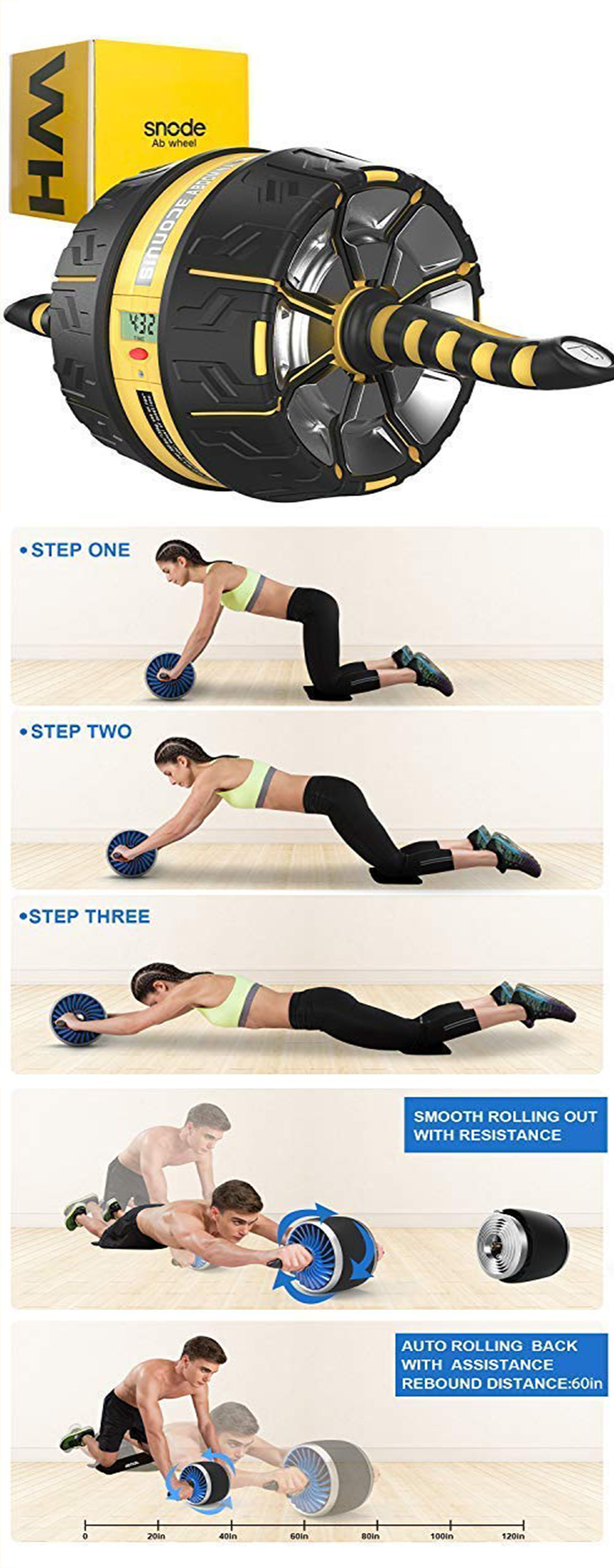 Ab Roller Wheel With Intelligent Workout Data Display Ab Trainer Muscle Abs Ab Roller