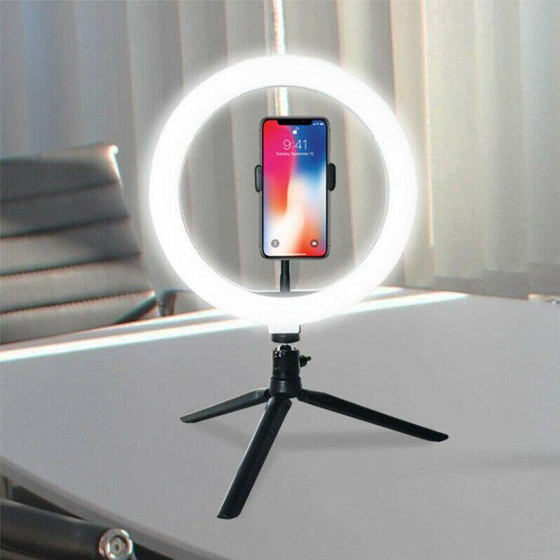 10 Led Ring Light Studio Photo Video Dimmable Lamp Tripod Stand Selfie Camera Phone Tik Tok Multiple Cameras Live On Desk In 2020 Led Ring Light Selfie Ring Light Led Ring