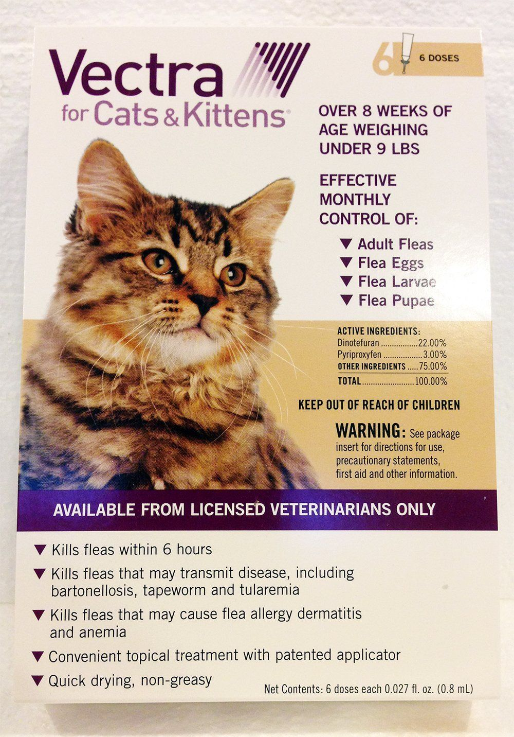 Summit Vetpharm Vectra for Cats 6 Month Supply Under 9lbs