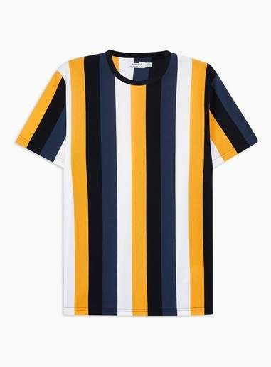a3c31d11e8 Yellow and Blue Striped T-Shirt - Shirts & Tanks - Clothing in 2019 ...