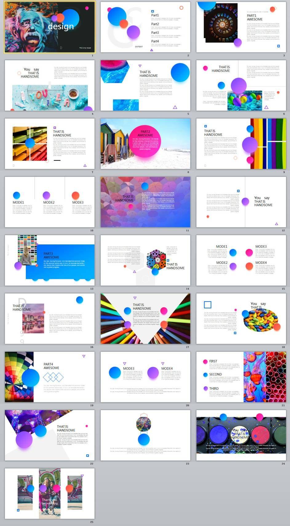 25+ spherical color creative design powerpoint templates | 2018, Modern powerpoint