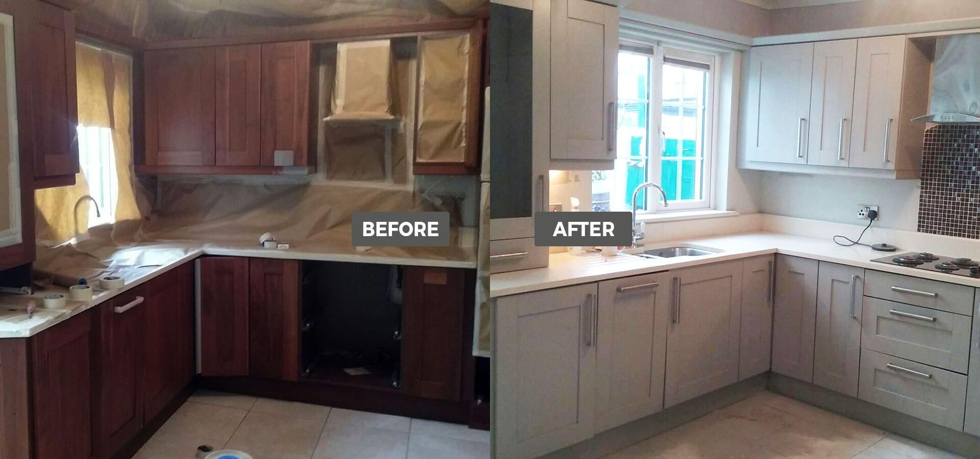 Fitted Kitchens Dublin Ivory Shaker Respray Kitchens