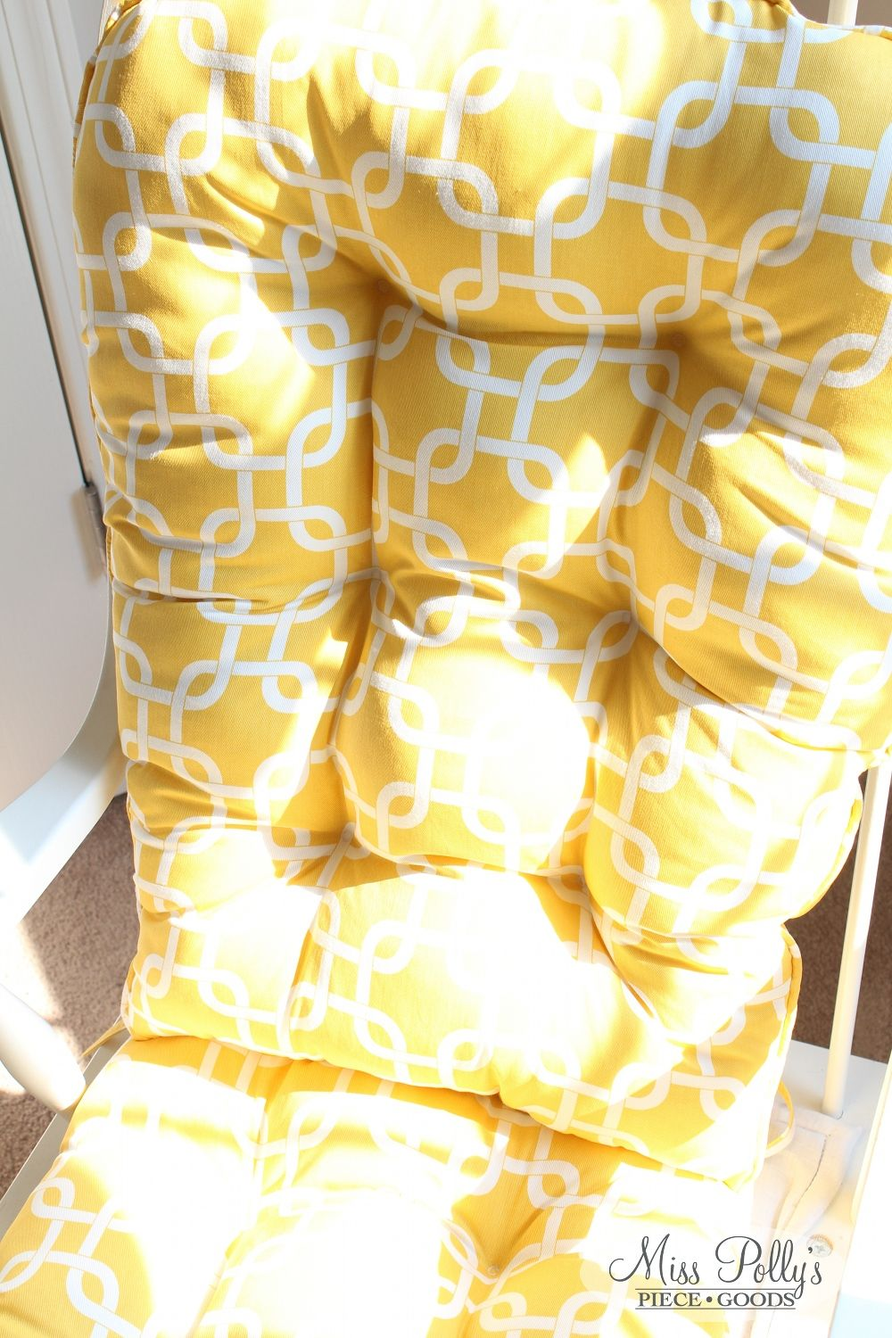 Lovely Custom Made Glider Cushions In Yellow U0027Gotchau0027 Fabric Available From  MissPollysPieceGoods Https:/