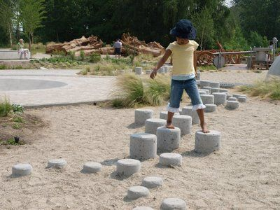 Stepping stones obsticle course Stepping stones obsticle course
