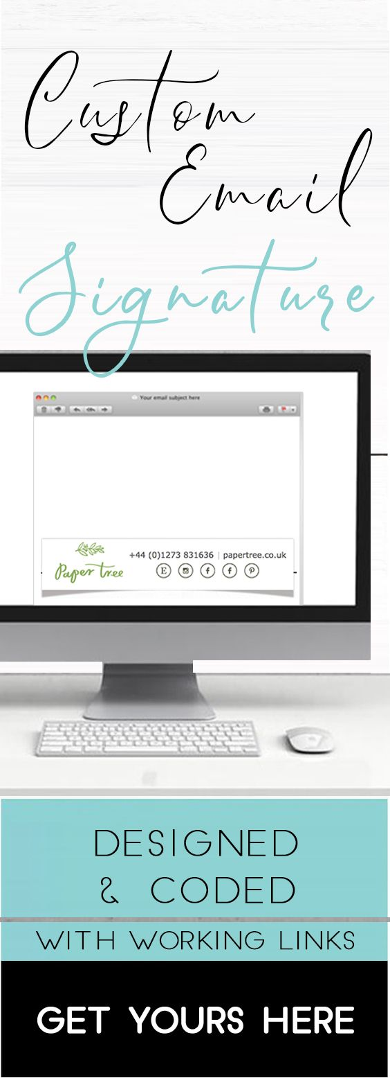 Email Signature Footer Template Custom Email Signature For Your