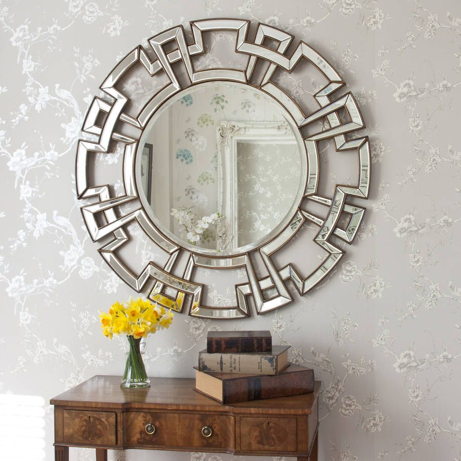 Atticus Champagne Round Decorative Mirror