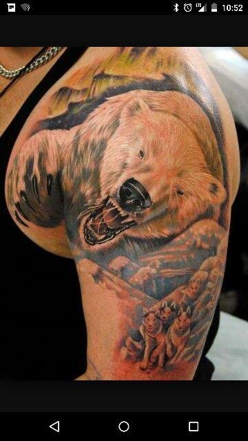 Polar Bear Tattoo. | Kitchen renovations | Bear tattoos ...
