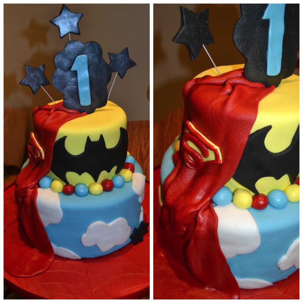 Superhero 1st birthday cake I make cake Pinterest Superhero