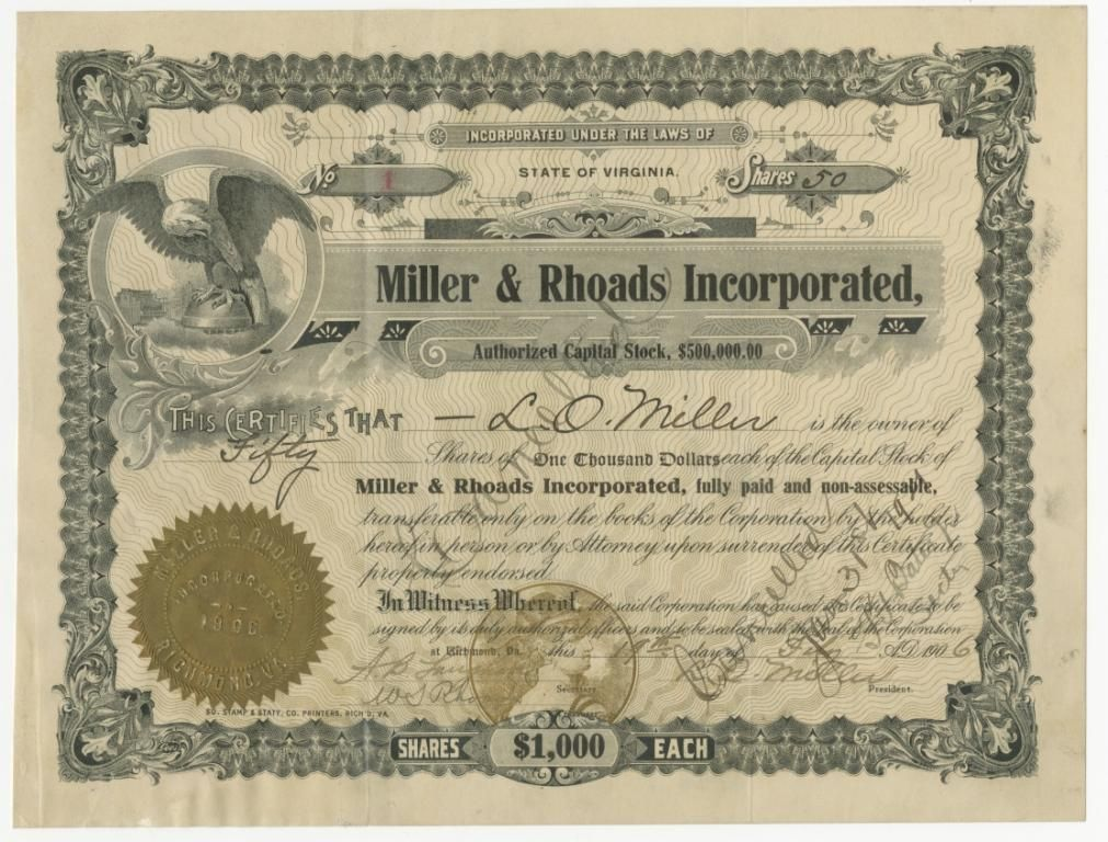 Nestle Stock Certificate Scripophily \/ FAMOUS NAMES \/ Stock and - stock certificate template