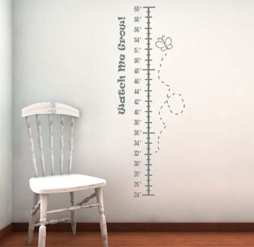 Watch me grow height chart wall decals height chart wall decals and nursery