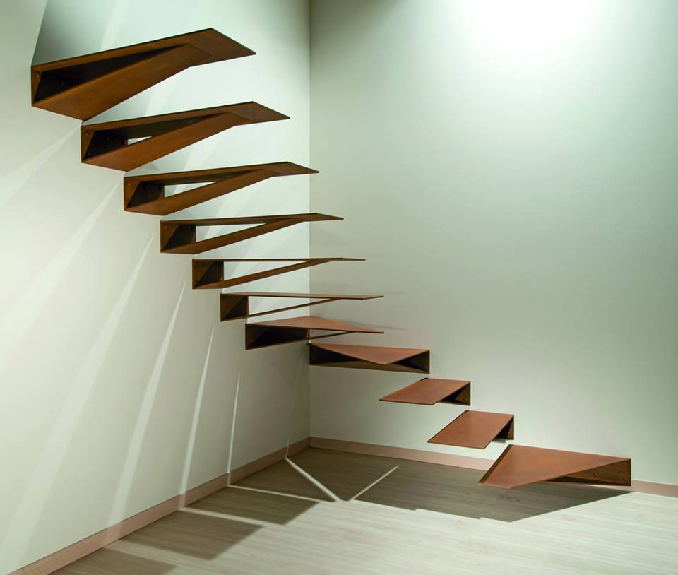 Escalera acero corten, de Marretti ESCALERAS Pinterest Acero
