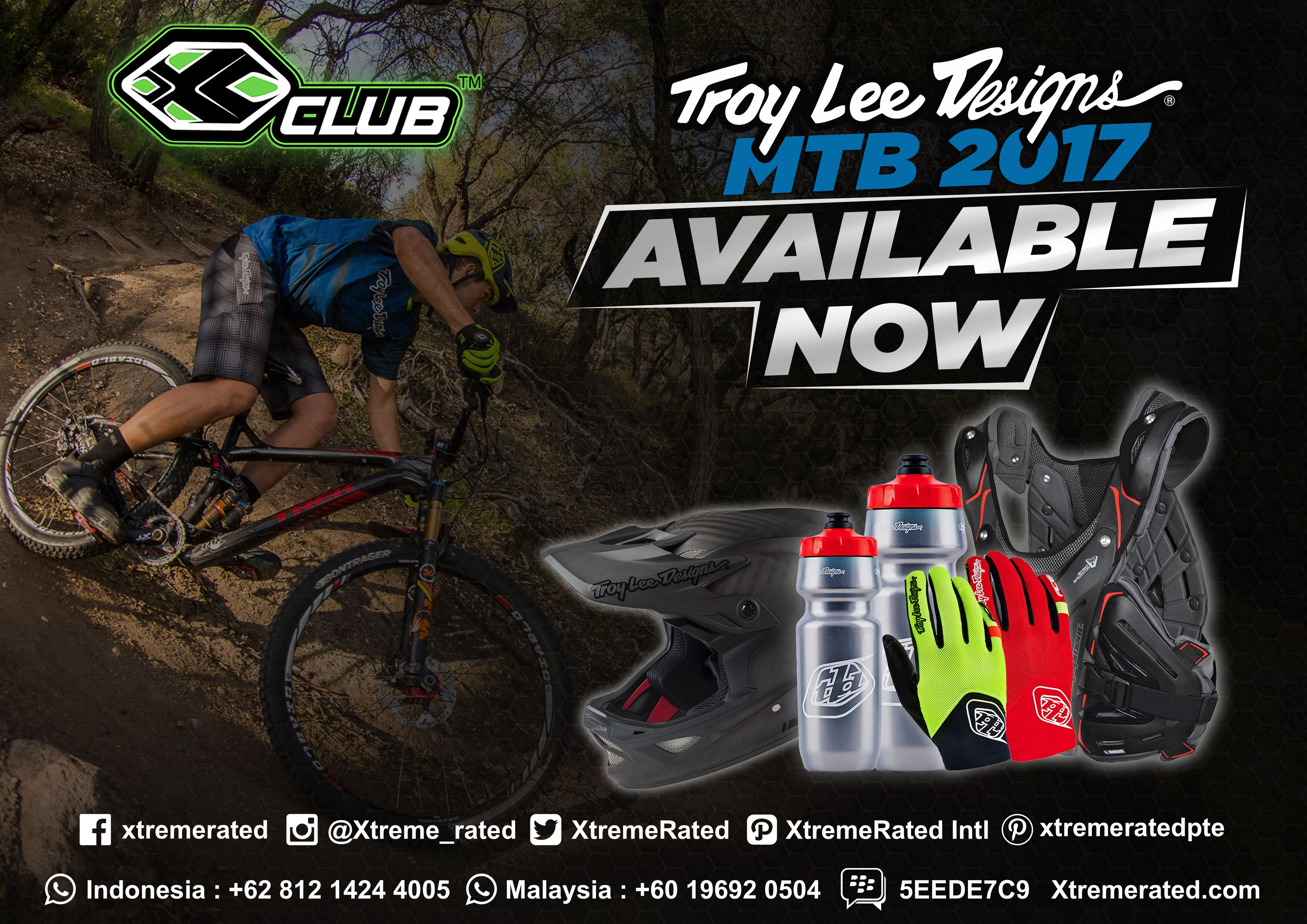 Troy Lee Designs MTB 2017 Available now in all XCLUB leading stores  #xtremerated #xclub #troyleedesigns #mtb