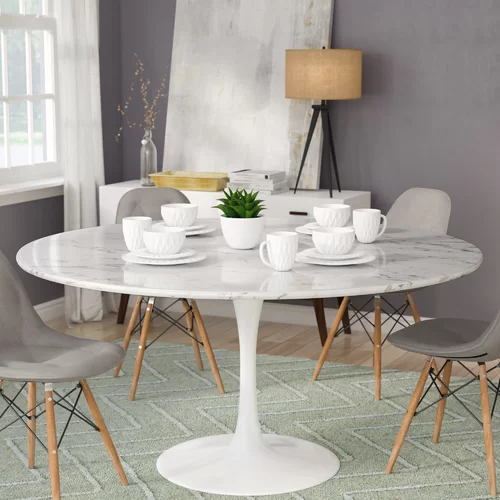 Julien Artificial Marble Round Dining Table Round Dining Room Table Round Dining Room Round Marble Dining Table
