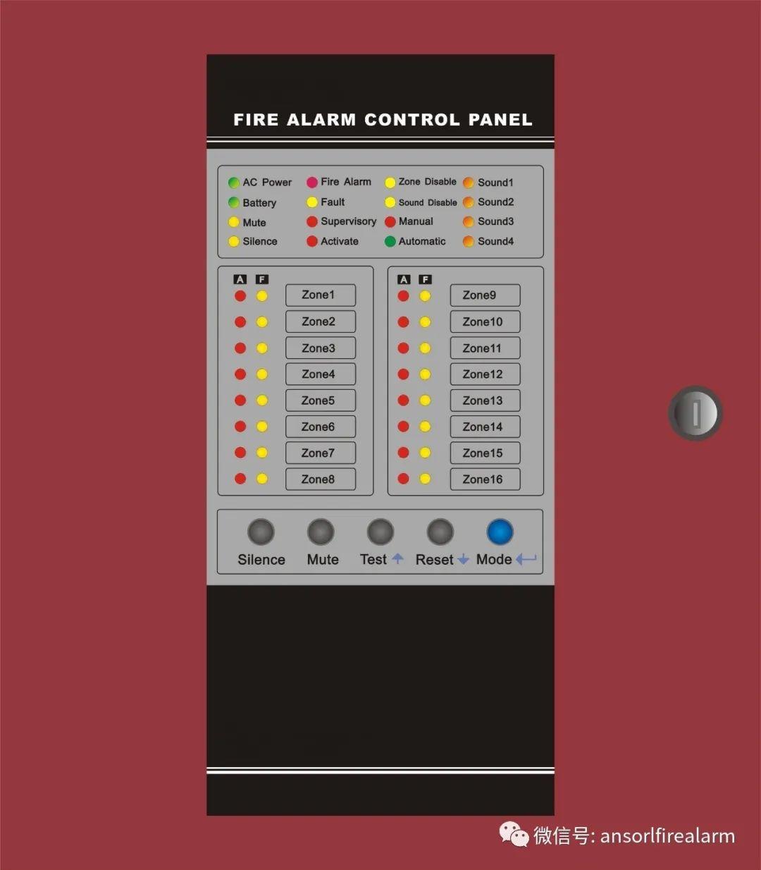 Conventional Fire Alarm Control Panel Model No. ASBFP