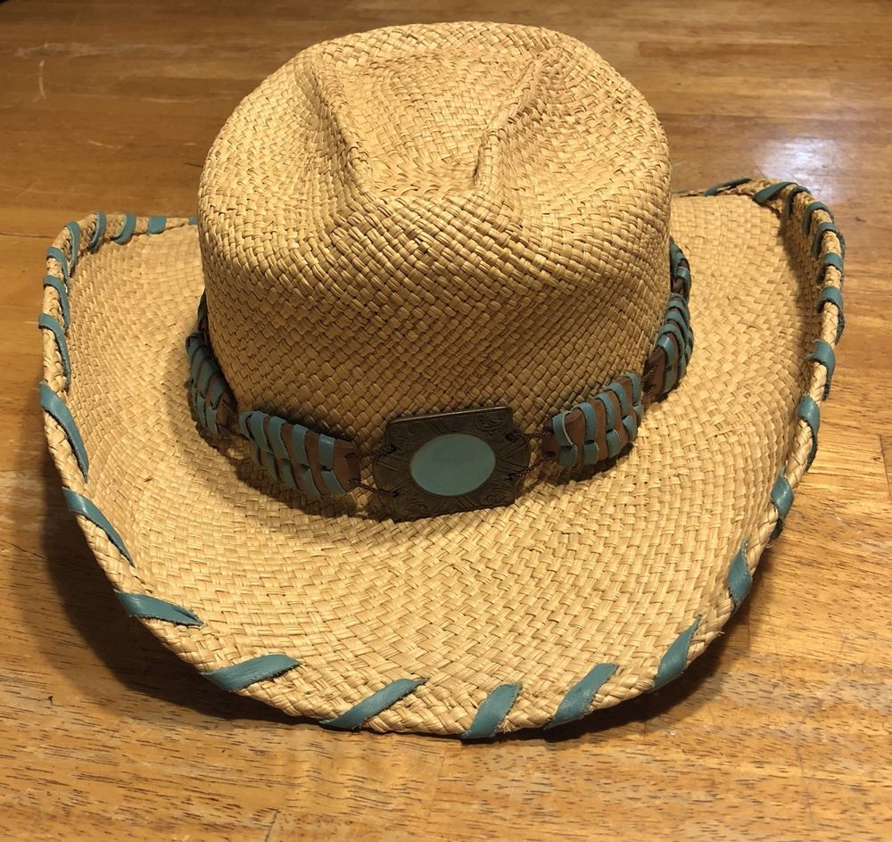 Bullhide by Montecarlo Western Cowboy Straw Hat Del Mar Size Large Used  Nice  fashion  clothing  shoes  accessories  mensaccessories  hats (ebay  link) 4f236b1b20a0