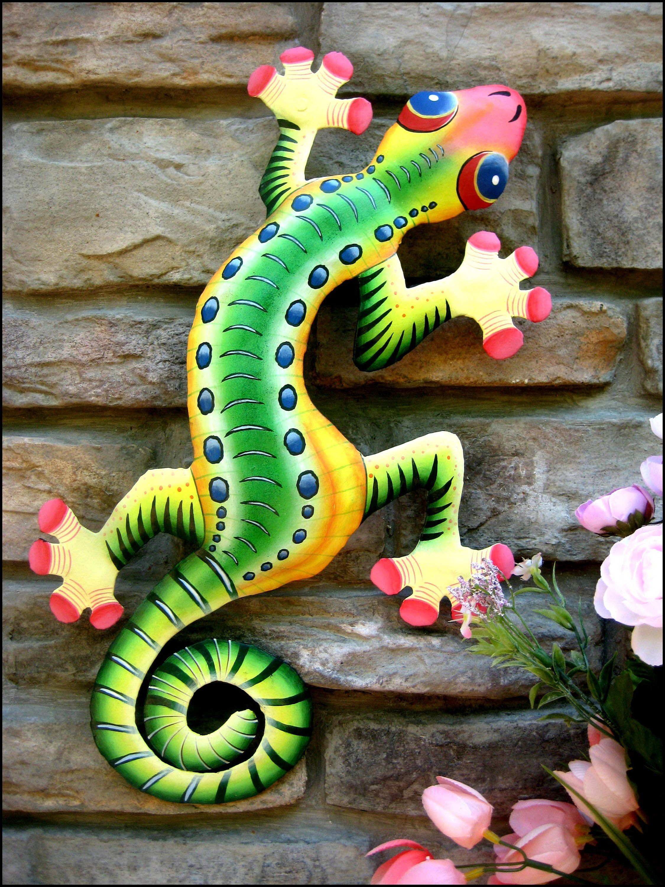 Gecko and Frog Designs - Tropical Art Decor - Brighten your home with  colorful, handcrafted art- See more… | Gecko wall art, Metal gecko wall art,  Outdoor metal art