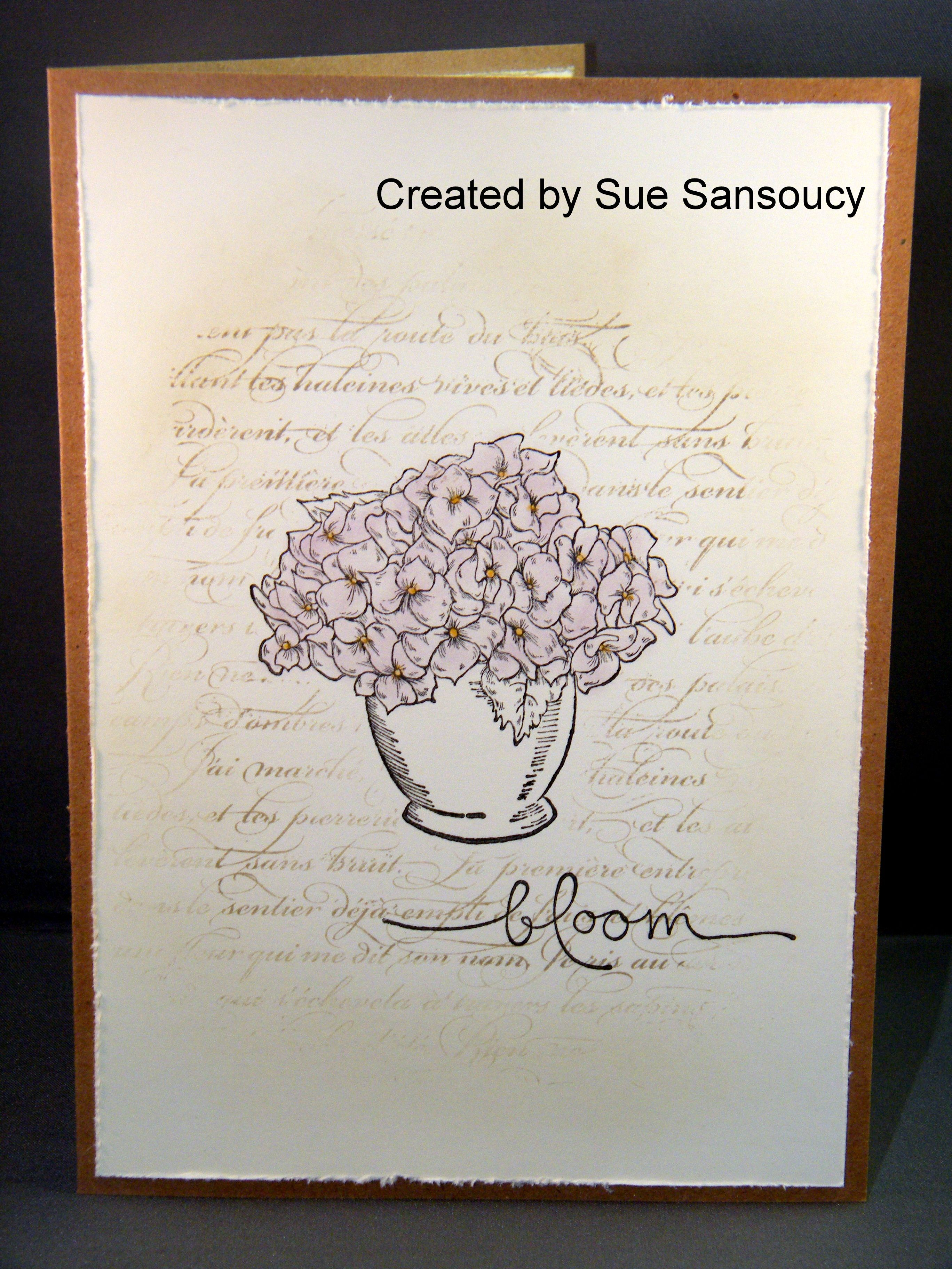 card front stampin' up stamps bloomin' beautiful en