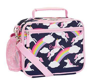02480aae7e48 Mackenzie Navy Rainbow Unicorn Classic Lunch Bag